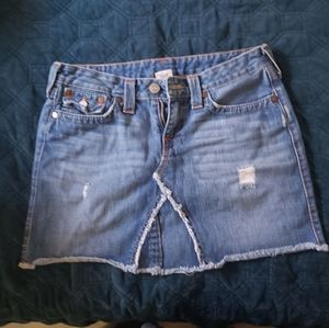 True Religion mini jean skirt